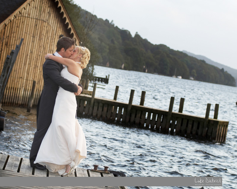 Jetty image wedding in the Lake district