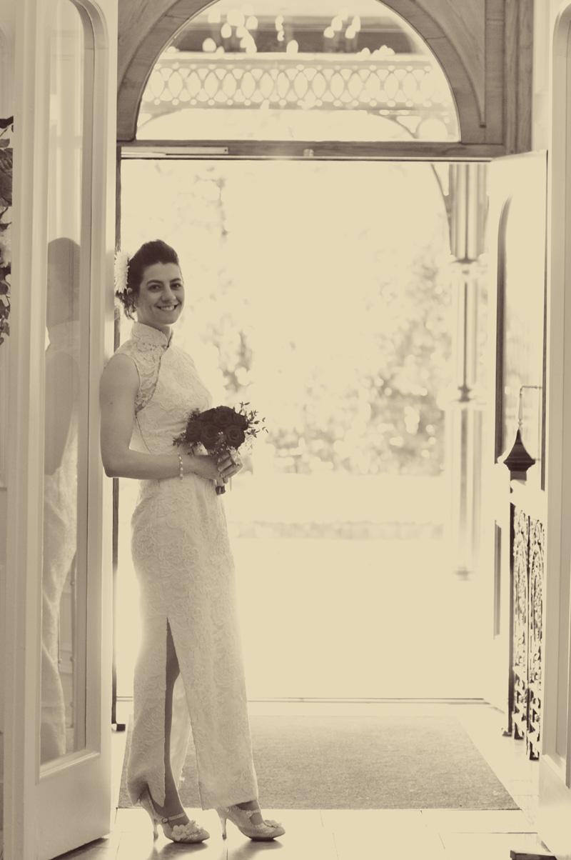 Jen in the doorway of the Grange Hotel