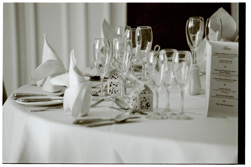 The tables and details at the Grange Hotel