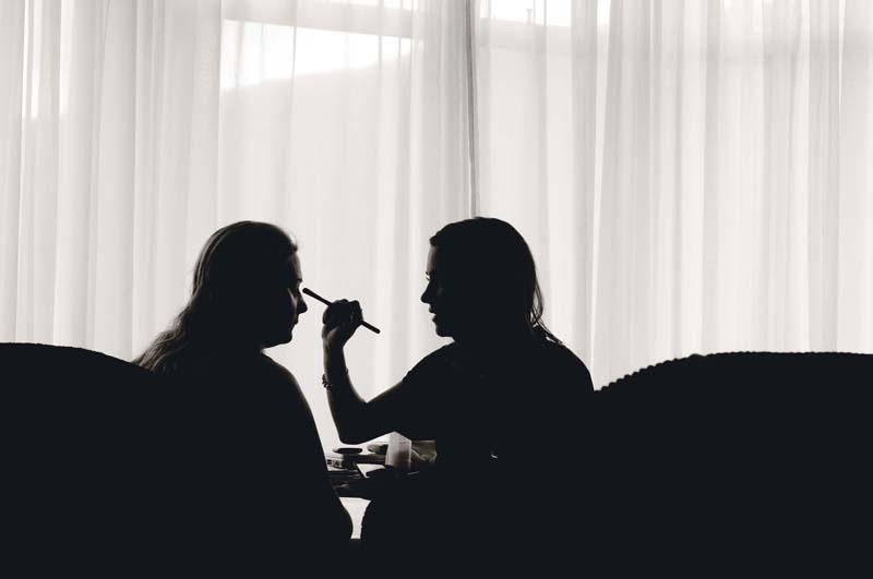 wedding makeup Lake District, photograph.