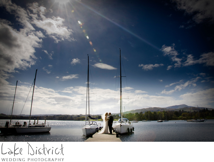 Wedding in Rydal CUmbria and Waterhead bay, ambleside