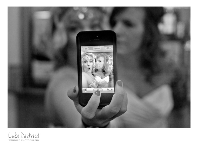 Self picture of a bride and her friend