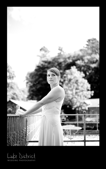Black and white wedding photographer, Lake District