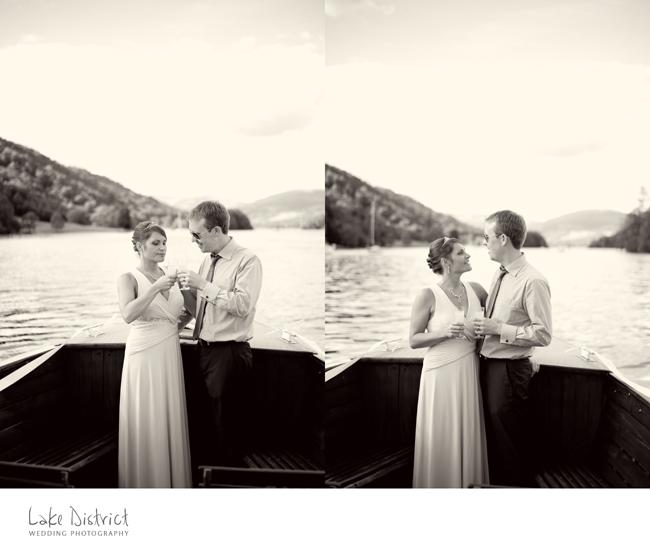A wedding photograph taken just off Hawkshead.