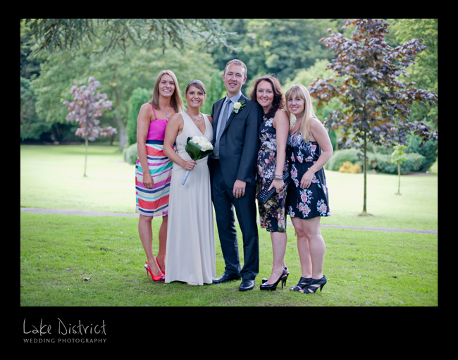 Kendal park wedding photographers, near the Castle Green Hotel