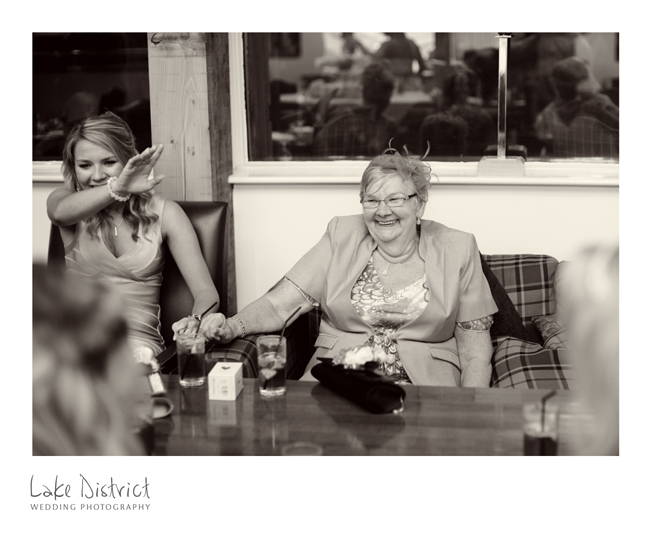 Wedding guests natural reportage images in the Lakes