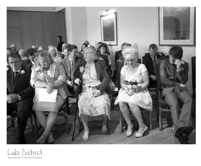 Funny moment during a wedding at the North Lakes.