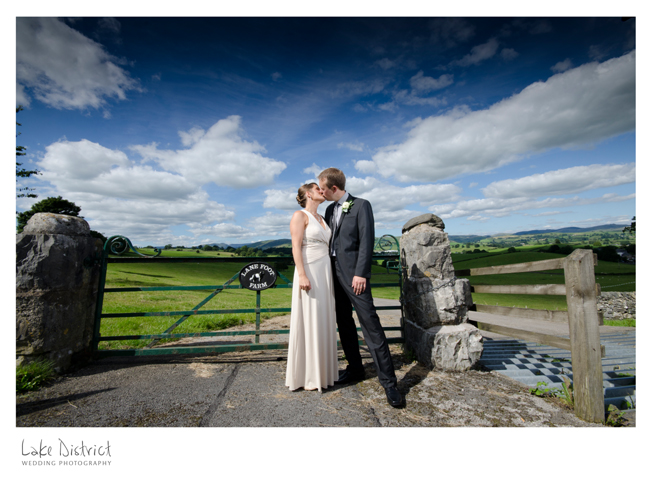 Bright sunlit wedding image