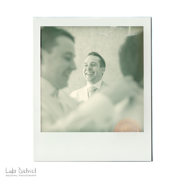 Polaroid, black and white film wedding photographers in the Lake District