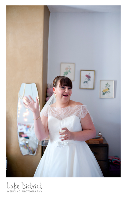 images of bridal preparations and full days wedding photography in CUmbria.