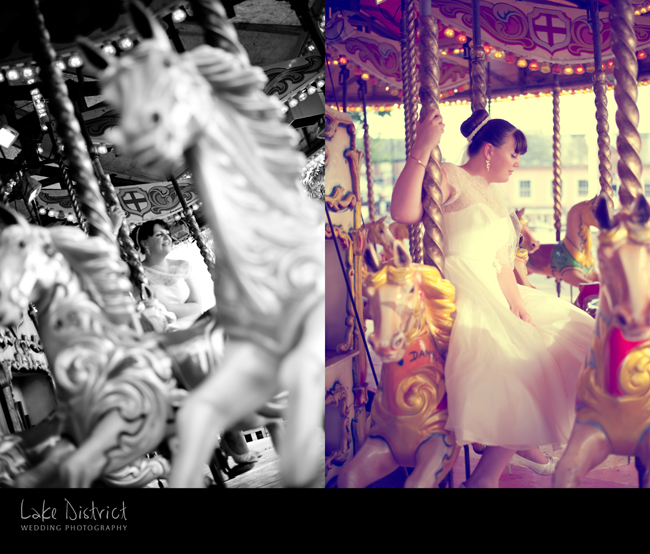 wedding carousel in Cumbria images