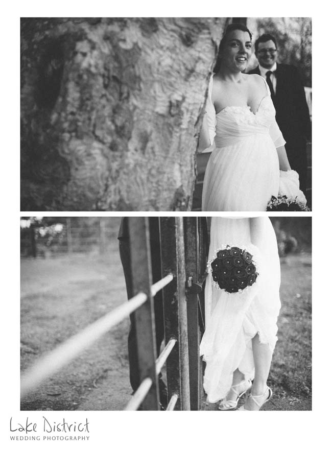 Organic wedding photography on film in cumbria