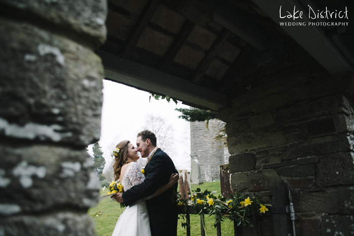 The gate at Jesus church in Troutbeck for a wedding photograph