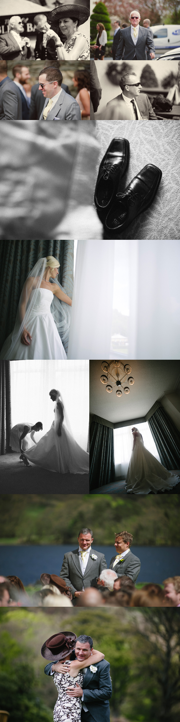 wedding photography from inn on the lake in glenridding