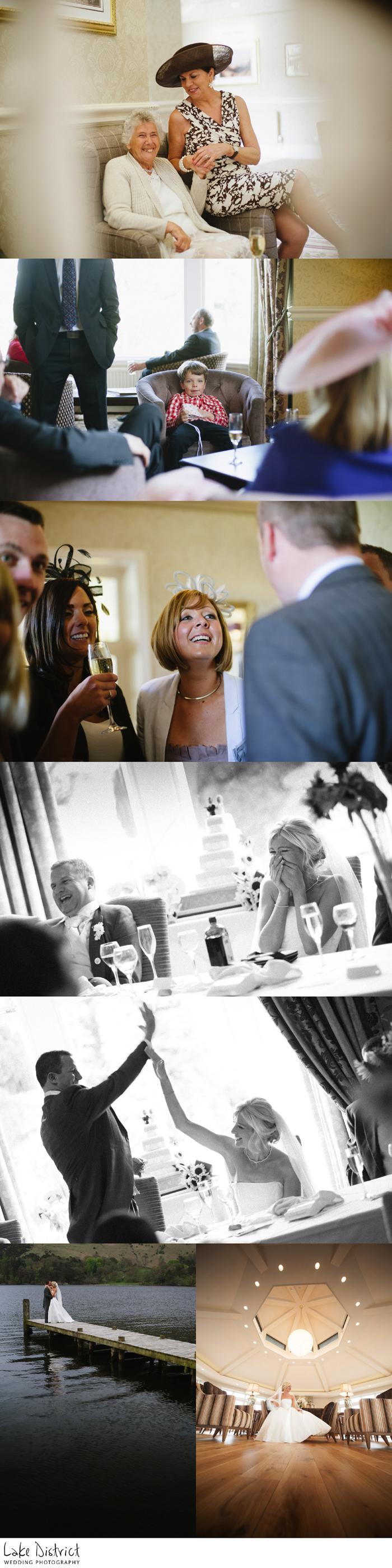 awesome rock 'n' roll images from a cumbrian wedding at inn on the lake