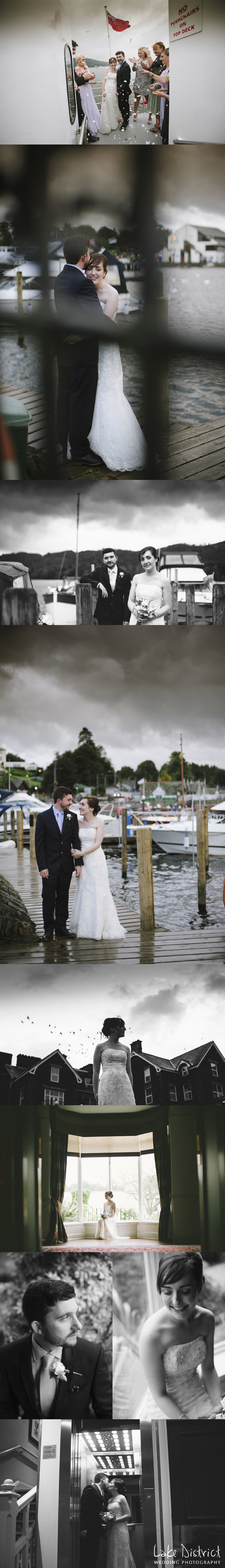 Staggering pictures of a wedding from the Windermere marina wedding