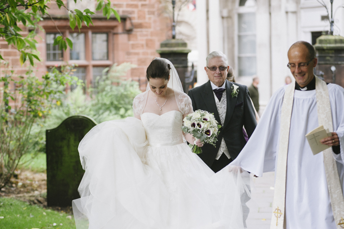 Bride outside St Andrews