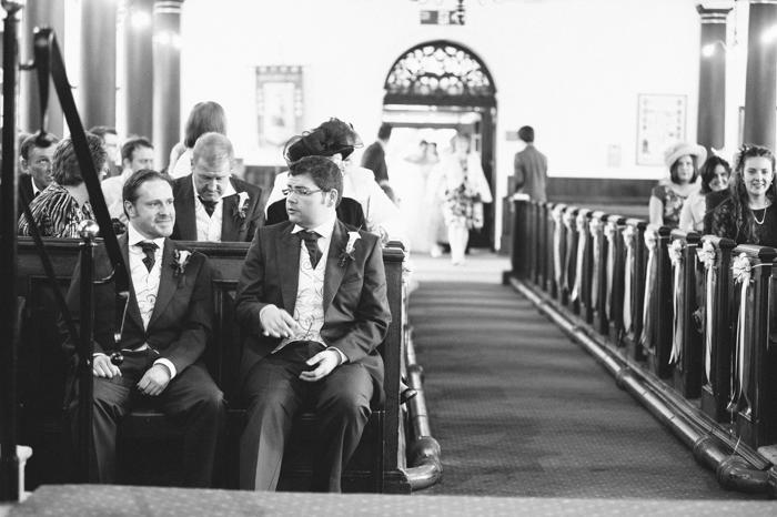 Nervous groom at St Andrews