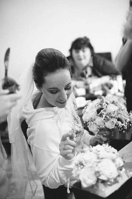 bride with flowers in Carlisle