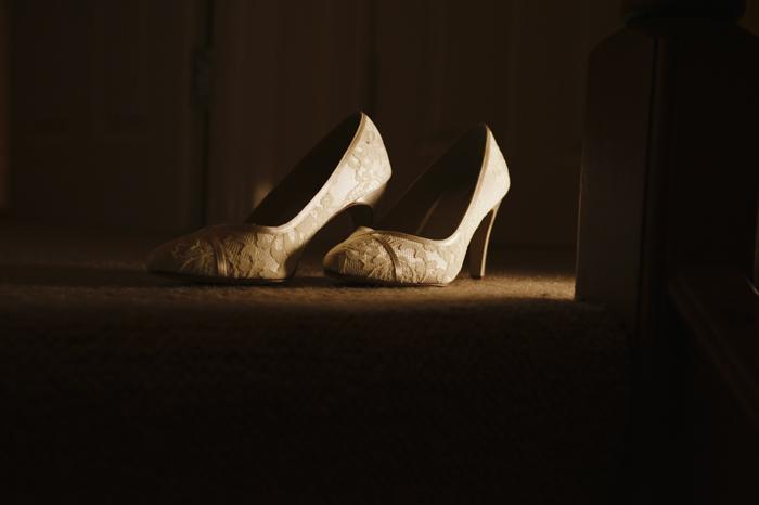 beautiful cumbrian wedding shoes