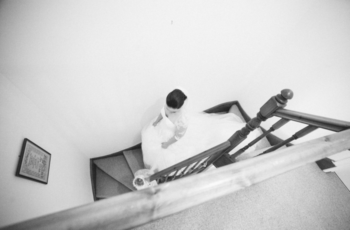 Bride on staircase, alternative angles